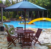 new furnitures at swimming pool