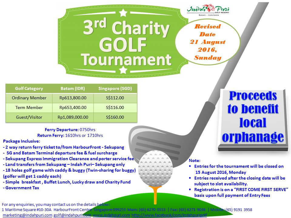 3rd Year Charity Golf Tournament