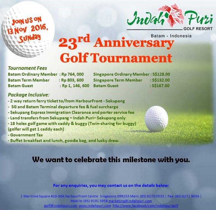 23rd Anniversary Golf Tournament