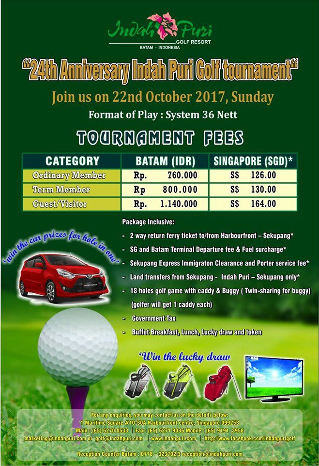 Indah Puri Golf Resort 24th Anniversary Golf Tournament